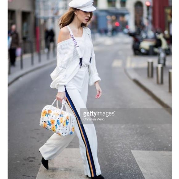 dca17828 Zara Pants | Nwt White Side Stripe Trousers Palazzo | Poshmark